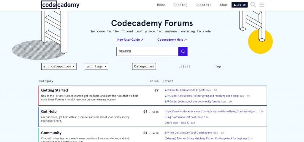 Codecademy's official forum.