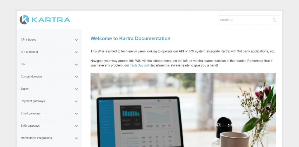 Kartra's documentation.
