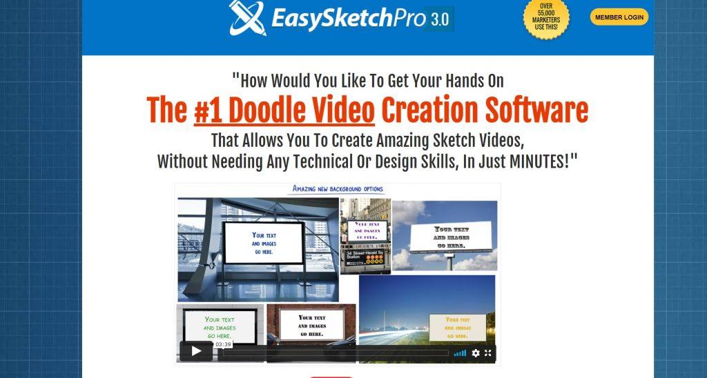 EasySketchPro homepage.