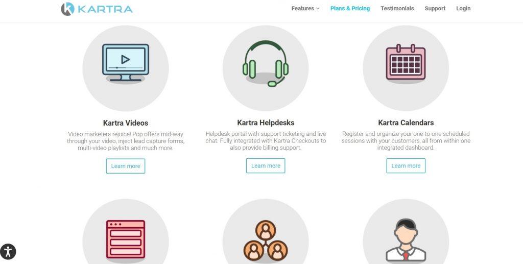 Kartra's homepage.
