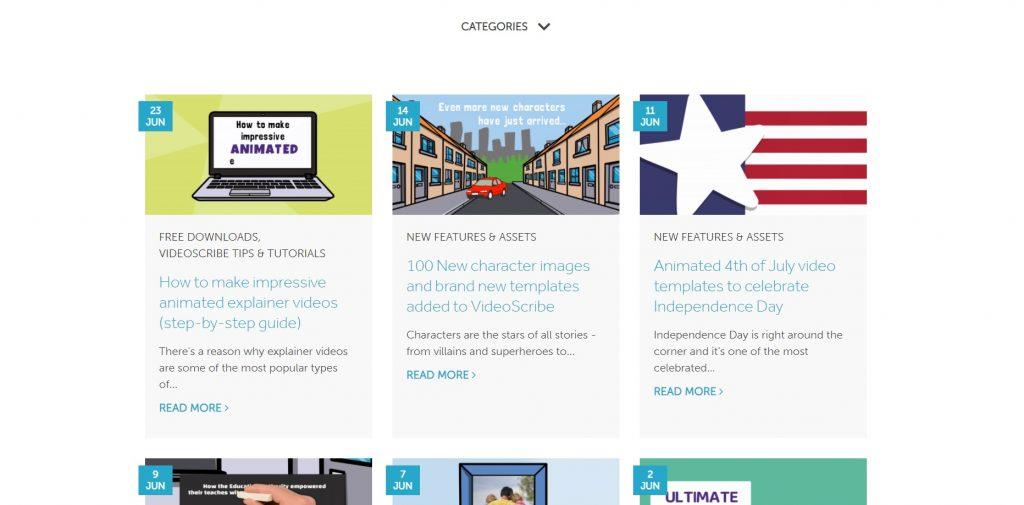 A blog on the VideoScribe platform.