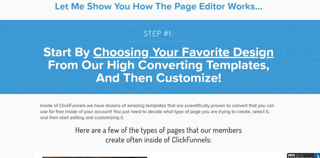 Guide how to create a web page in 6 steps. ClickFunnels.