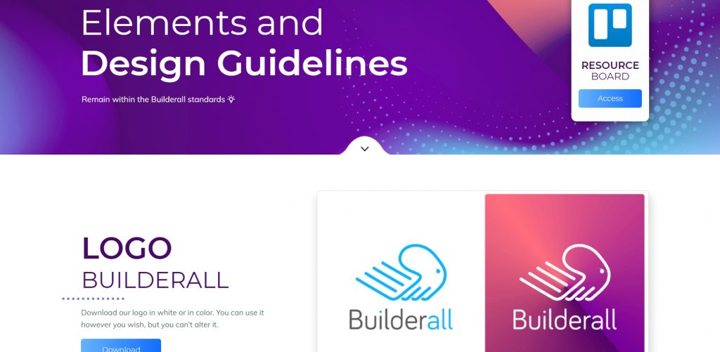 A page with available tools for design. Builderall.