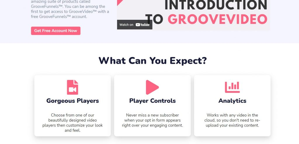 GrooveVideo feature.