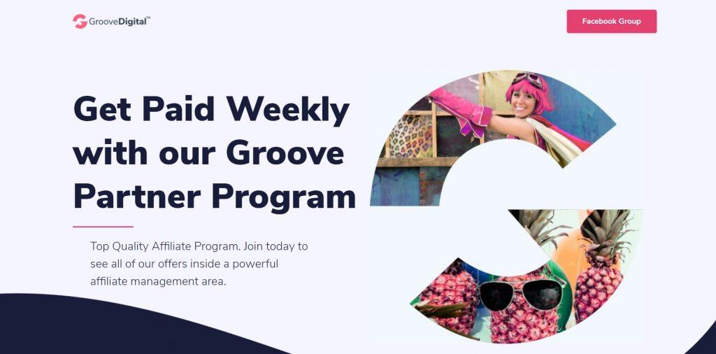 GrooveFunnels' affiliate program.