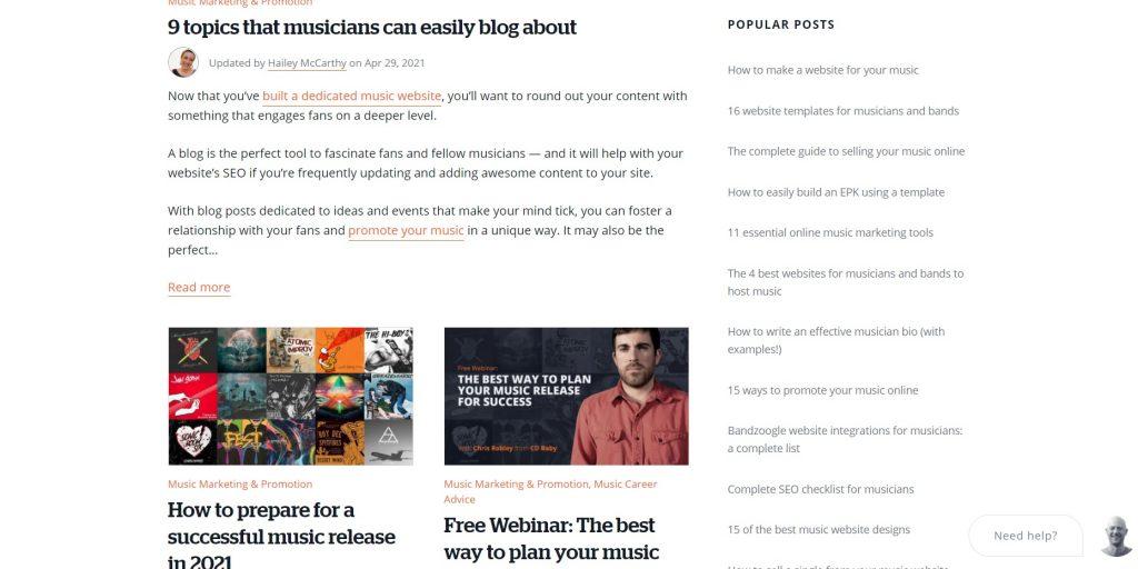 Popular blog posts. Wix.
