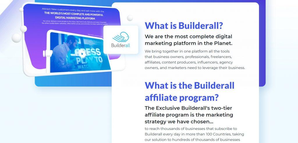 Builderall's affiliate program.