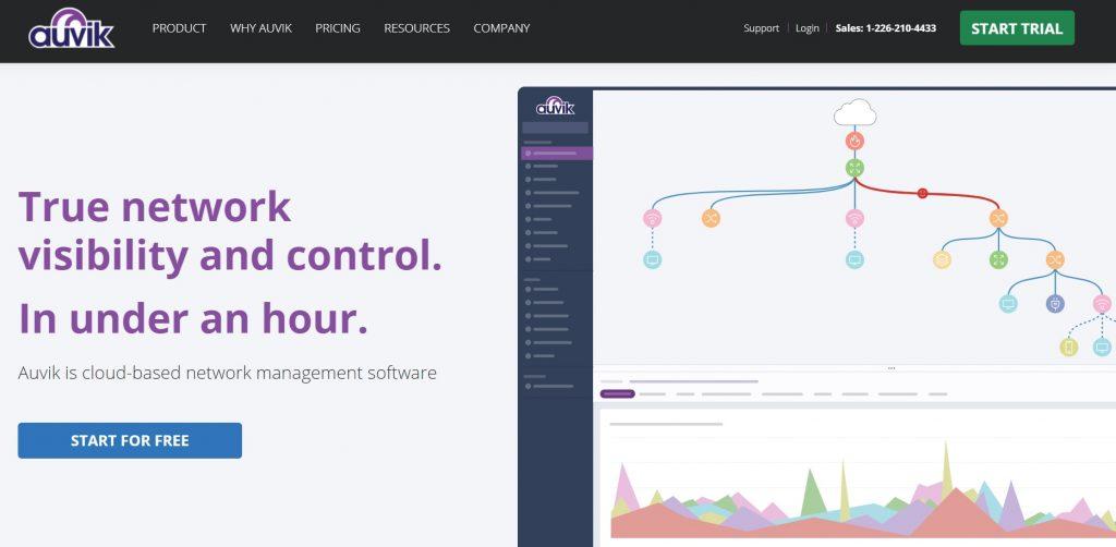 Auvik's homepage.