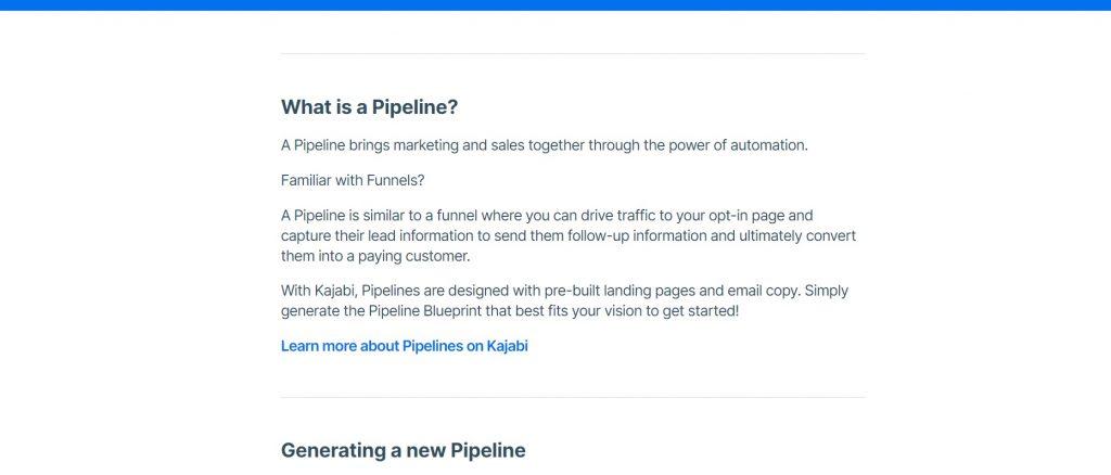 How to build a pipeline on Kajabi.