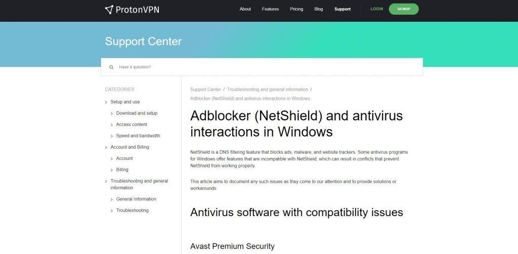 NetShield feature. ProtonVPN.