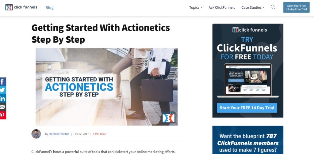 A detailed guide about Actionetics service. ClickFunnels.