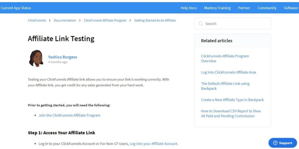 How to test affiliate links on ClickFunnels.